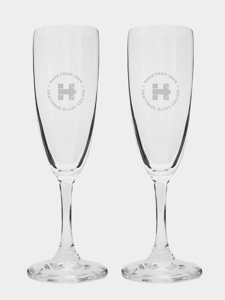 Hillary Champagne Flute Duo