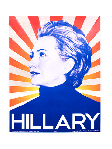Hillary's poster designed in 2008
