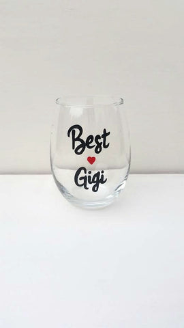 Best Gigi handpainted wine glass