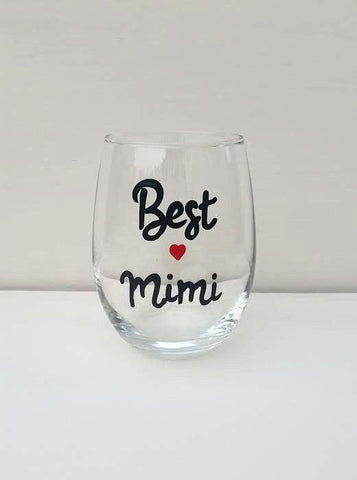 Best Mimi handpainted wine glass