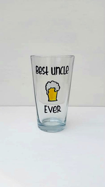 Best Uncle Ever beer pint glass