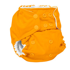 Rumparooz G2 One-Size Pocket Diaper - Solid Color - Pumpkin Orange