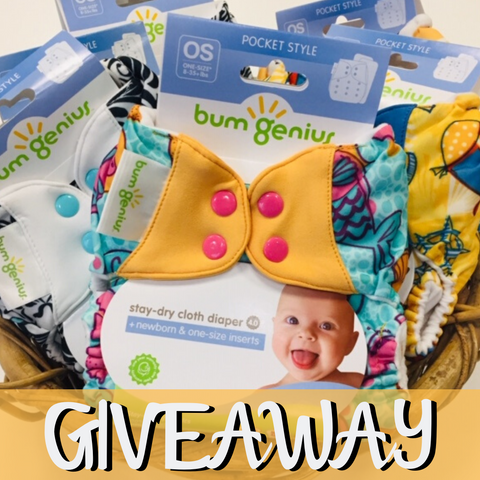 bumgenius one-size pocket diaper limited edition prints - bundle of 6 giveaway