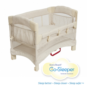 Arm's Reach Mini Ezee 2-in-1 Cosleeper & Bassinet Euro - For Shorter Beds