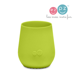 ezpz tiny cup is made from PVC, BPA and phthalate-free silicone