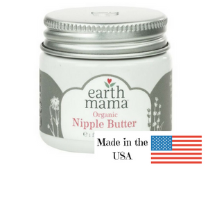 Earth Mama Organics Nipple Butter, herbal forumulation for soothing nipple discomfort, made in the USA