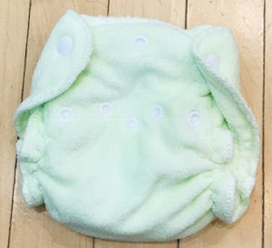Imagine Newborn Bamboo Fitted Diapers, 4-Pack, Gently Used