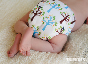 Thirsties Natural  Newborn Diapers - made in the USA