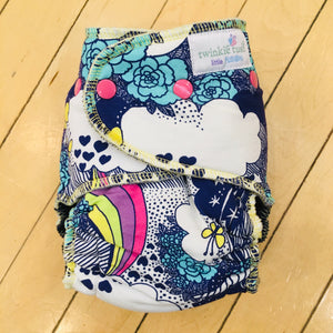 Twinkie Tush LITTLE FUSION Fitted Diaper, Gently Used