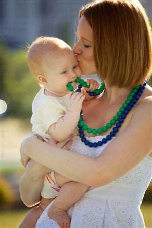 Chewbeads Jane Necklace - Teething Jewelry for Baby & Mom