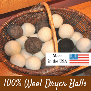 100% Wool Dryer Balls Made in Upstate NY from Golden Grove Farm