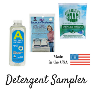 Jillian's Drawers Detergent Sample Pack for cloth diapers - try some of each for $9.99