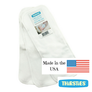 Thirsties Organic Cotton Doublers, 3 pack, made in the USA