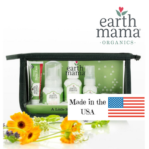 earth mama organics a little something for new baby 6 piece set is made in the USA