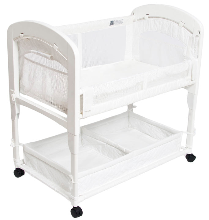 19cbb6f8d9 natural colored arm s reach cambria co-sleeper and bassinet has beautiful  wooden ends