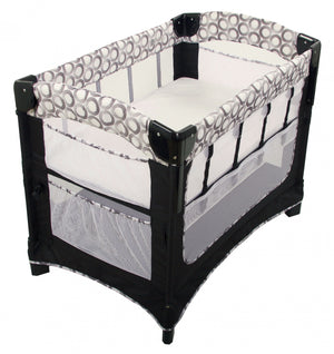 baby in the arms reach ideal 3-1 co-sleeper in crescent in play yard mode