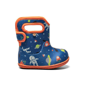 Baby Bogs Woodland print in navy blue mulit pattern - toddler boots for winter