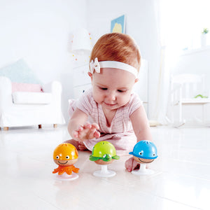 Hape Stay-Put Rattle Set of musical animal themed rattles