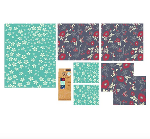 ocean print in the 3 pack assortment that includes, small, medium, and large sizes