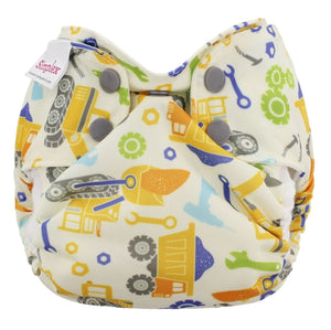 Blueberry Newborn Simplex diaper in night owls print, buy gently used and save 20%
