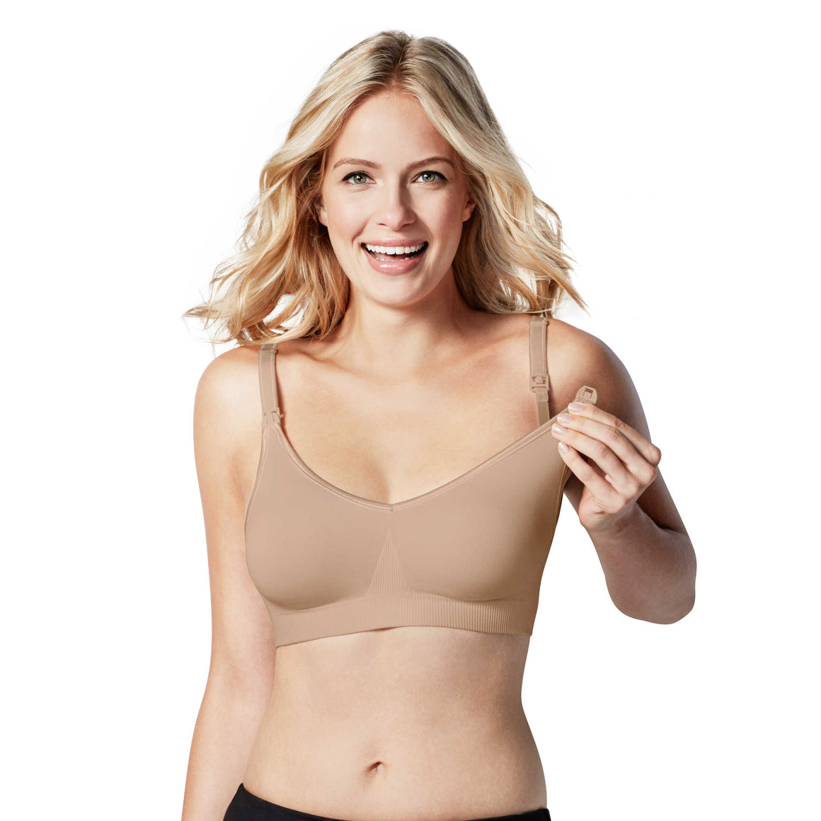 bravado body silk seamless nursing bra in black