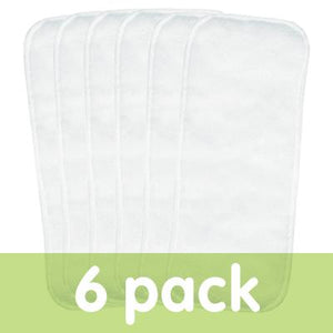"bumGenius six pack of stay dry liners measure 12"" x 5.5"""