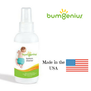 bumGenius Bottom Cleaner spray for cleaning baby's diaper area, made in the usa
