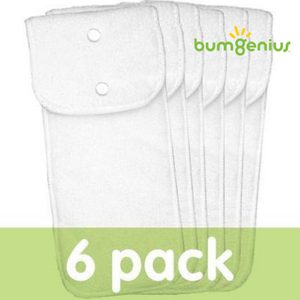 bumgenius adjustable one-size diaper insert, microfiber, best for pocket diapers