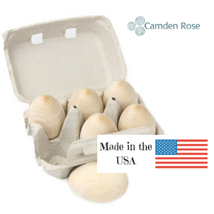 Camden Rose Good Wood Eggs are made of birch wood and made in the USA