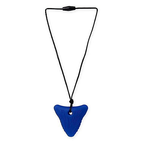 red shark tooth juniorbeads pendant necklace from chewbeads with safety clasp measures 20 inches