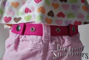 Dapper Snappers Waist Bench Sizing for Toddlers, shown on belt loops