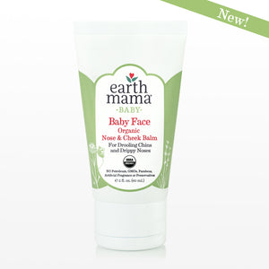 Organic Baby Face Balm for chapped and dry skin by Earth Mama Organics, made in the USA