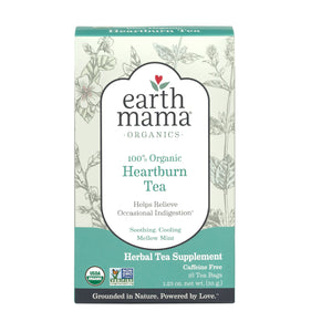 Earth Mama Organics Heartburn Tea for pregnancy, indigestion, and general heartburn, 100% organic