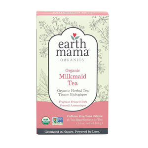 Earth Mama Organics Milkmaid Tea, organic herbal tea for stimulating breastmilk production