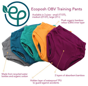 ecoposh obj training pants in atlantis teal