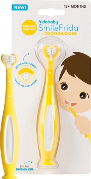 smilefrida tooth hugger toothbrush in yellow