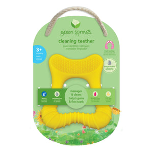Green Sprouts Cleaning Teether is yellow for 3 months+
