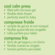 green sprouts cool calm press, chillable pack for minor injuries for kids