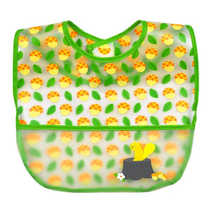 green sprouts fox print 3 pack of wipe off bibs