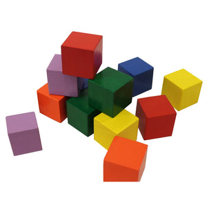 Packaging of Baby's First Blocks by Haba includes 12 colorful blocks in green, yellow, red, blue, purple, and orange