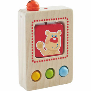 "fun HABA Baby's First Phone measures 4"" L x 2.75"" W"