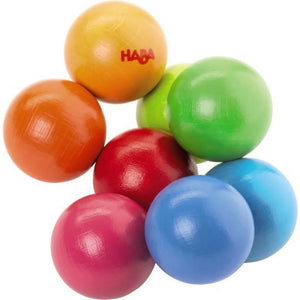 HABA Magica Clutching Balls is blues, greens, reds, and oranges total 8 balls