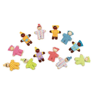 Hape Happy Babies Miniature Multicultural Dolls