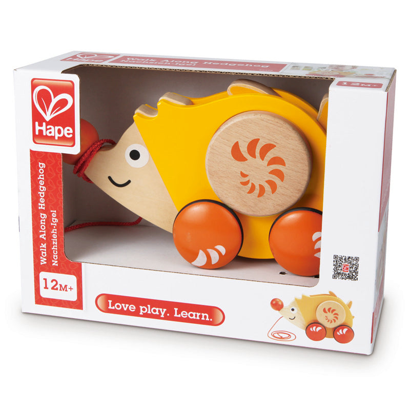 Image of the Hape Walk Along Hedgehog toy