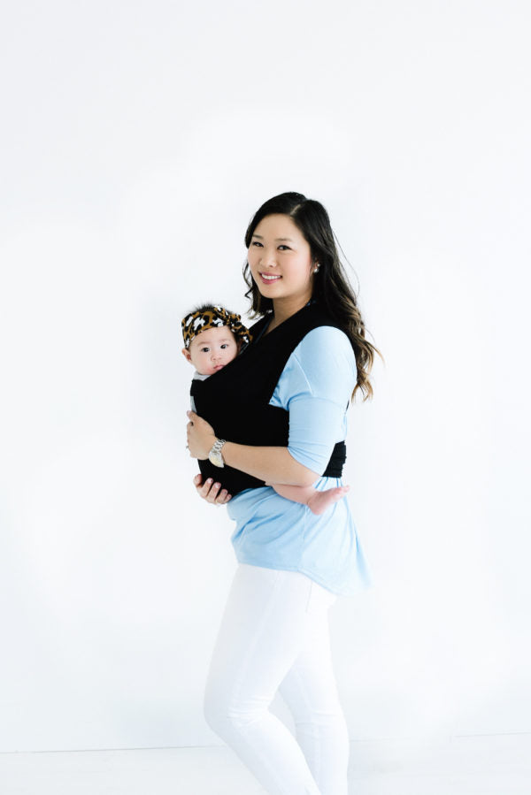 Happy Wrap Organic Bamboo Baby Carrier in solid color olive branch