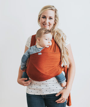 Happy Wrap Organic Bamboo Baby Carrier in solid color black