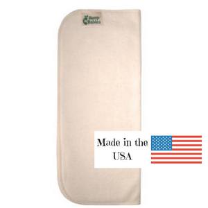 hemp babies bigger weeds cloth diaper inserts, made from hemp and organic cotton, made in the USA