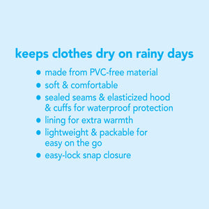 i play lightweight raincoat for toddlers in the color aqua