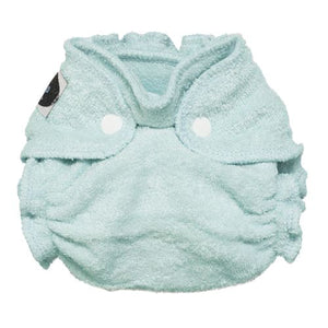 Gently Used Imagine Newborn Bamboo Fitted Diapers, version 2.0, shown in indigo blue