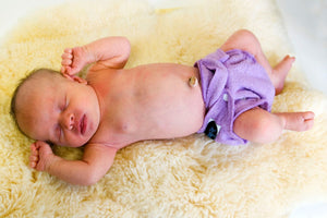 Imagine Newborn Fitted cloth diaper, made from bamboo